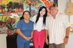 visita de gabinete 29-03-9113 - carlão e cleonir musicos - galego