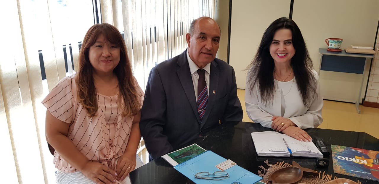 Dr Albino Romero - Presidente da colônia Paraguaia e sua esposa Carmen