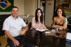 Elizângela Martins Biazotti dos Santos e Vereador Elicio Rocha Filho - Mano